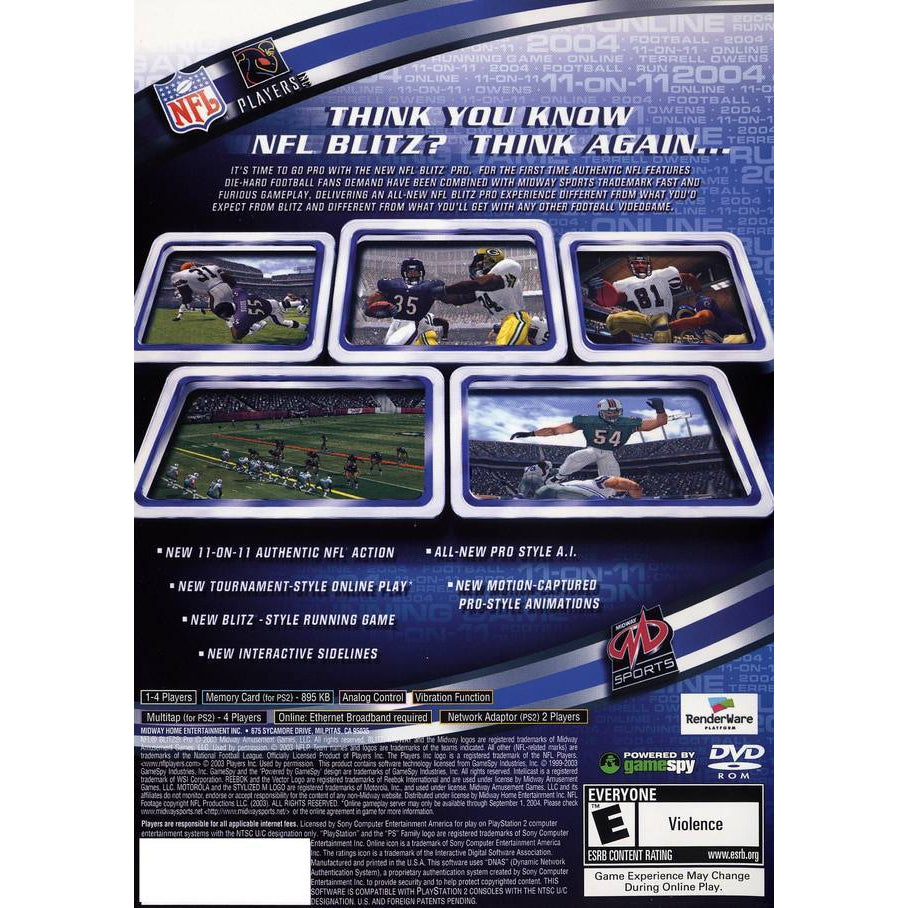 NFL Blitz Pro - PlayStation 2 (PS2) Game Complete - YourGamingShop.com - Buy, Sell, Trade Video Games Online. 120 Day Warranty. Satisfaction Guaranteed.