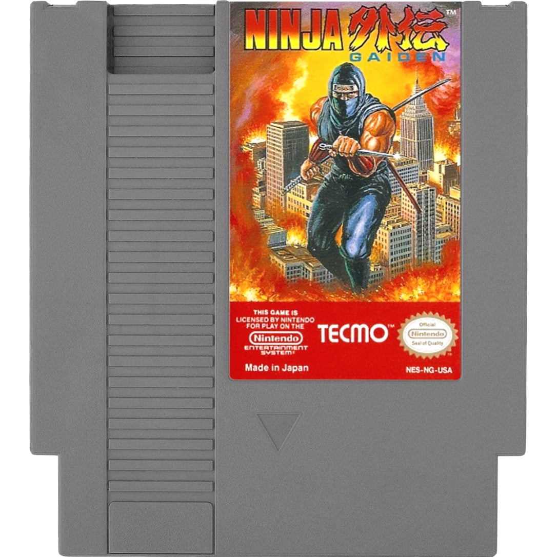 Ninja Gaiden - Authentic NES Game Cartridge - YourGamingShop.com - Buy, Sell, Trade Video Games Online. 120 Day Warranty. Satisfaction Guaranteed.