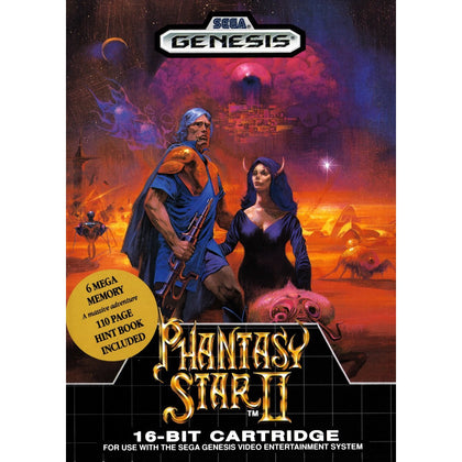 Phantasy Star II - Sega Genesis Game Complete - YourGamingShop.com - Buy, Sell, Trade Video Games Online. 120 Day Warranty. Satisfaction Guaranteed.