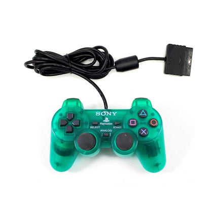 Sony PlayStation 2 DualShock 2 Analog Controller - Emerald (Transparent Green)