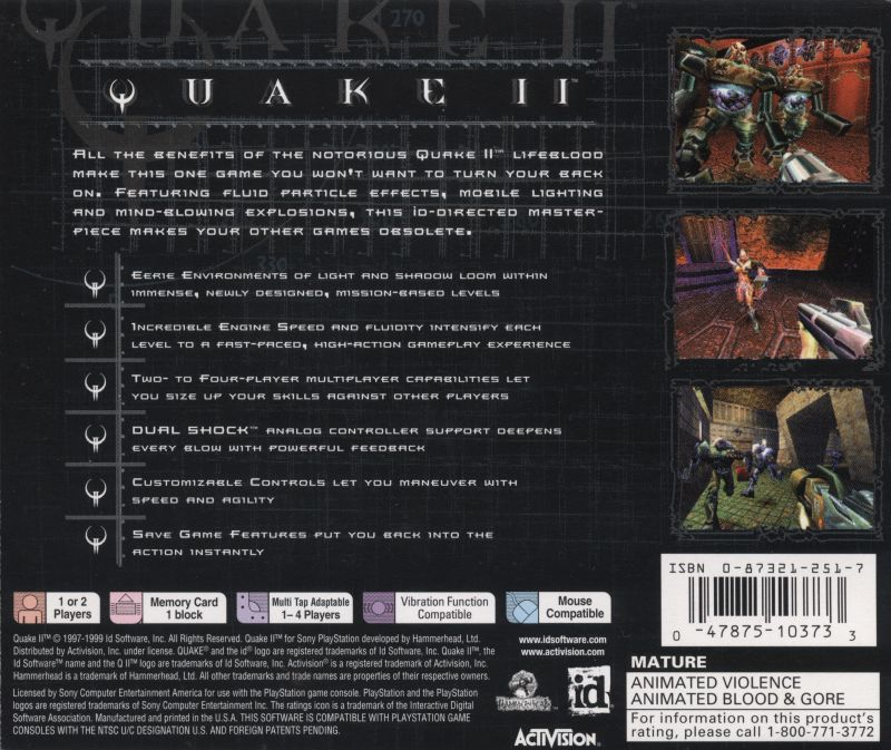 Quake II - PlayStation 1 (PS1) Game
