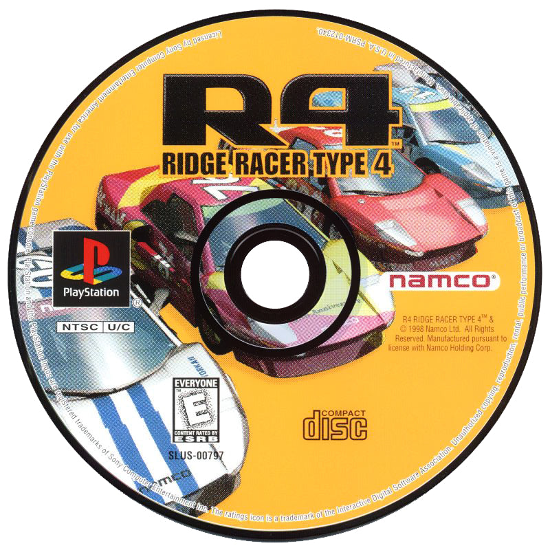 R4: Ridge Racer Type 4 - PlayStation 1 (PS1) Game Complete - YourGamingShop.com - Buy, Sell, Trade Video Games Online. 120 Day Warranty. Satisfaction Guaranteed.