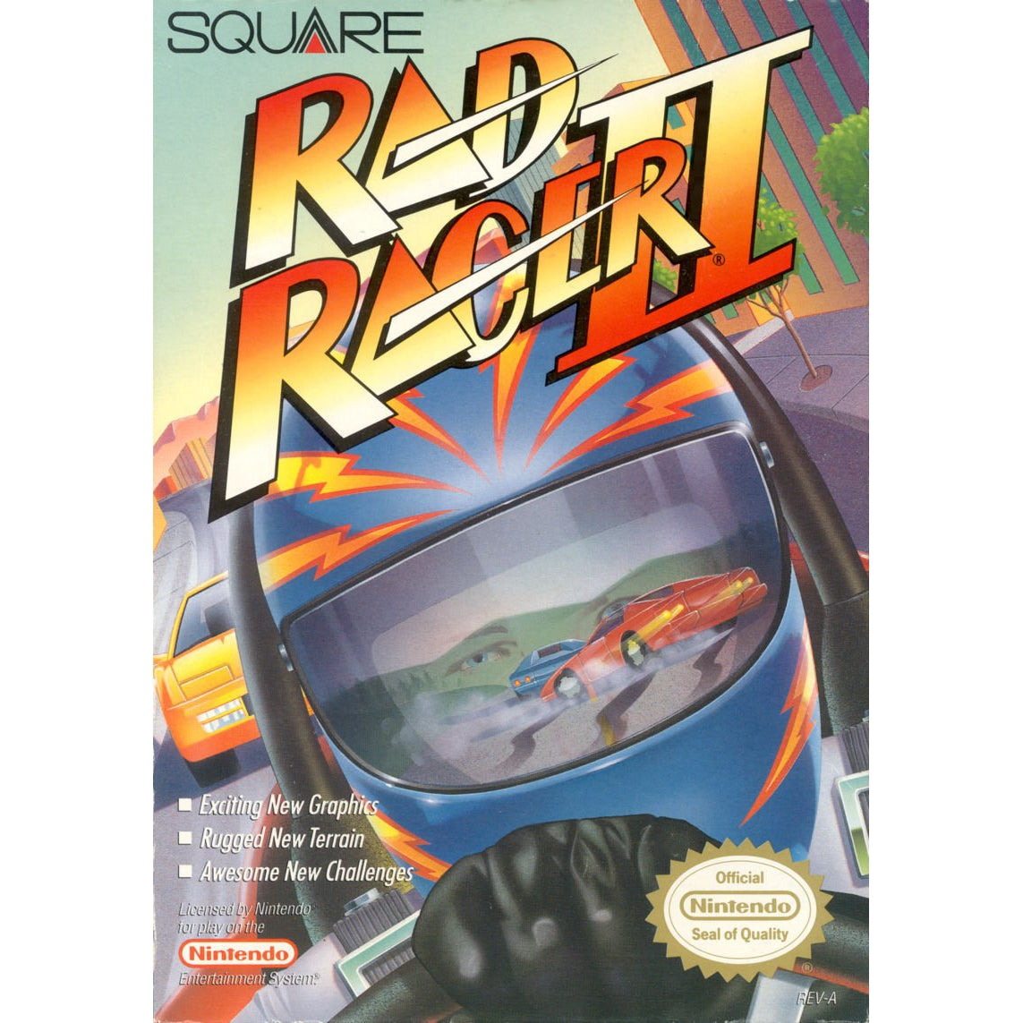 Rad Racer II - Authentic NES Game Cartridge - YourGamingShop.com - Buy, Sell, Trade Video Games Online. 120 Day Warranty. Satisfaction Guaranteed.