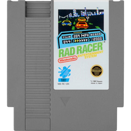 Your Gaming Shop - Rad Racer - Authentic NES Game Cartridge