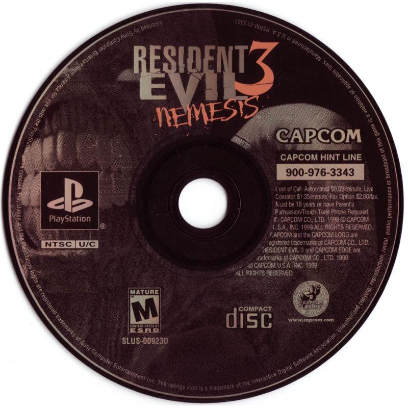 Resident Evil 3: Nemesis - PlayStation 1 (PS1) Game Complete - YourGamingShop.com - Buy, Sell, Trade Video Games Online. 120 Day Warranty. Satisfaction Guaranteed.