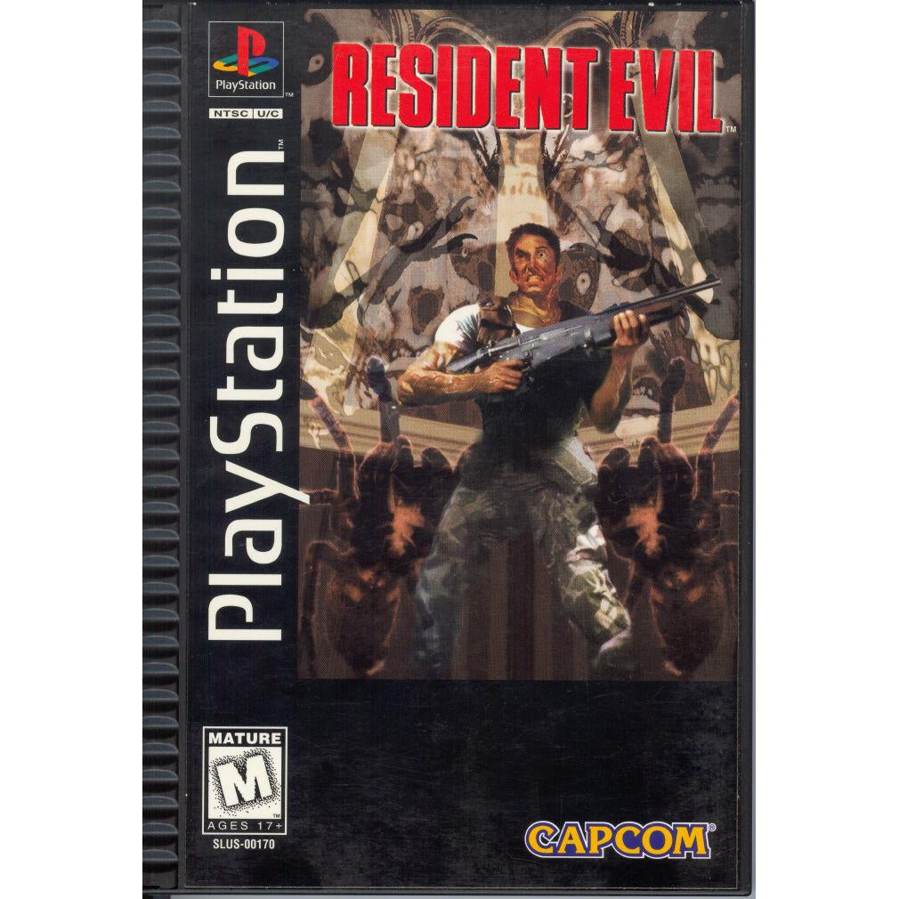 Resident Evil (Long Box) - PlayStation 1 (PS1) Game Complete - YourGamingShop.com - Buy, Sell, Trade Video Games Online. 120 Day Warranty. Satisfaction Guaranteed.