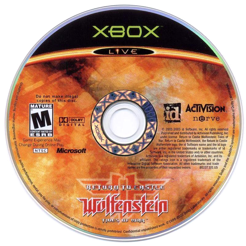 Return to Castle Wolfenstein: Tides of War - Microsoft Xbox Game Complete - YourGamingShop.com - Buy, Sell, Trade Video Games Online. 120 Day Warranty. Satisfaction Guaranteed.