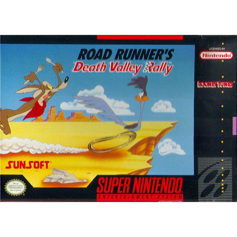 Road Runner's Death Valley Rally - Super Nintendo (SNES) Game Cartridge - YourGamingShop.com - Buy, Sell, Trade Video Games Online. 120 Day Warranty. Satisfaction Guaranteed.