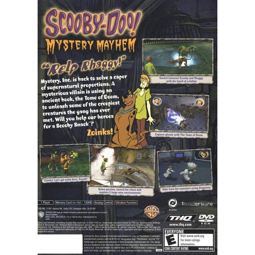 Scooby Doo: Mystery Mayhem - PlayStation 2 (PS2) Game Complete - YourGamingShop.com - Buy, Sell, Trade Video Games Online. 120 Day Warranty. Satisfaction Guaranteed.