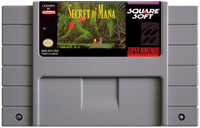 Secret of Mana - Super Nintendo (SNES) Game Cartridge