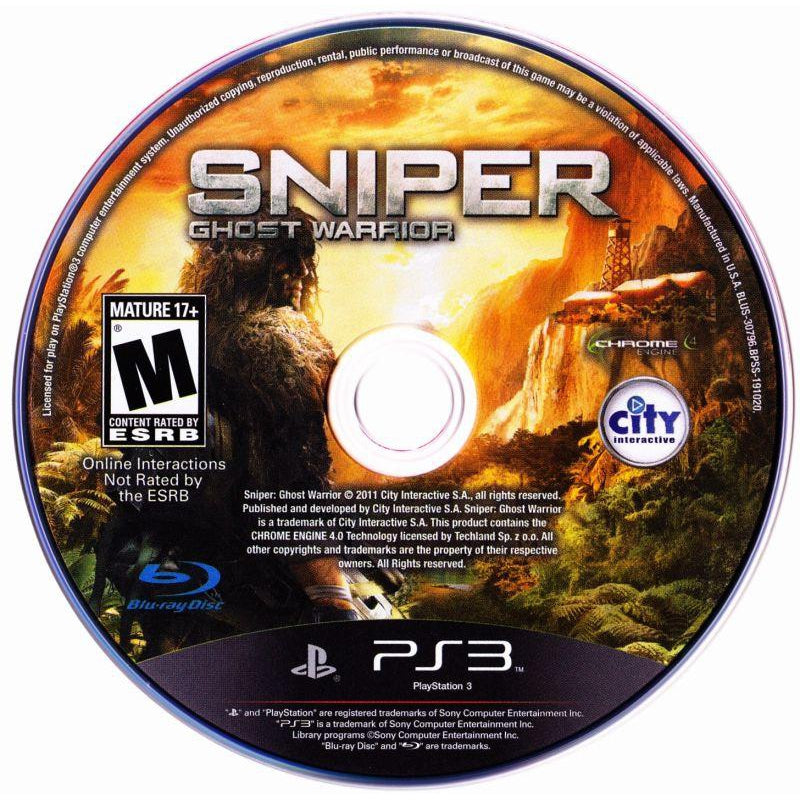 Sniper: Ghost Warrior - PlayStation 3 (PS3) Game - YourGamingShop.com - Buy, Sell, Trade Video Games Online. 120 Day Warranty. Satisfaction Guaranteed.