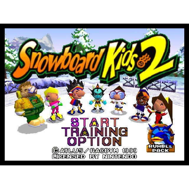 Snowboard Kids 2 - Authentic Nintendo 64 (N64) Game Cartridge - YourGamingShop.com - Buy, Sell, Trade Video Games Online. 120 Day Warranty. Satisfaction Guaranteed.