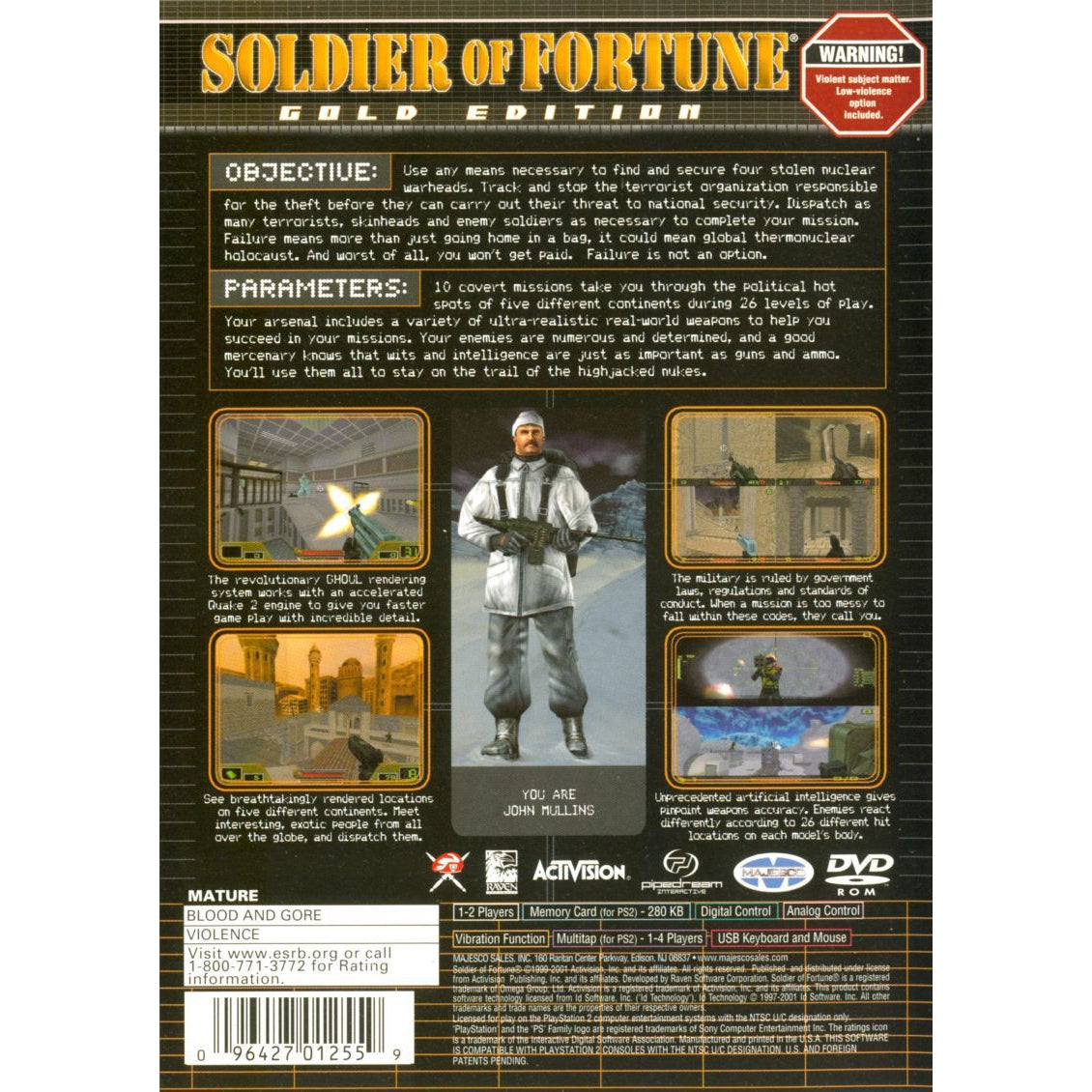Soldier of Fortune: Gold Edition - PlayStation 2 (PS2) Game Complete - YourGamingShop.com - Buy, Sell, Trade Video Games Online. 120 Day Warranty. Satisfaction Guaranteed.