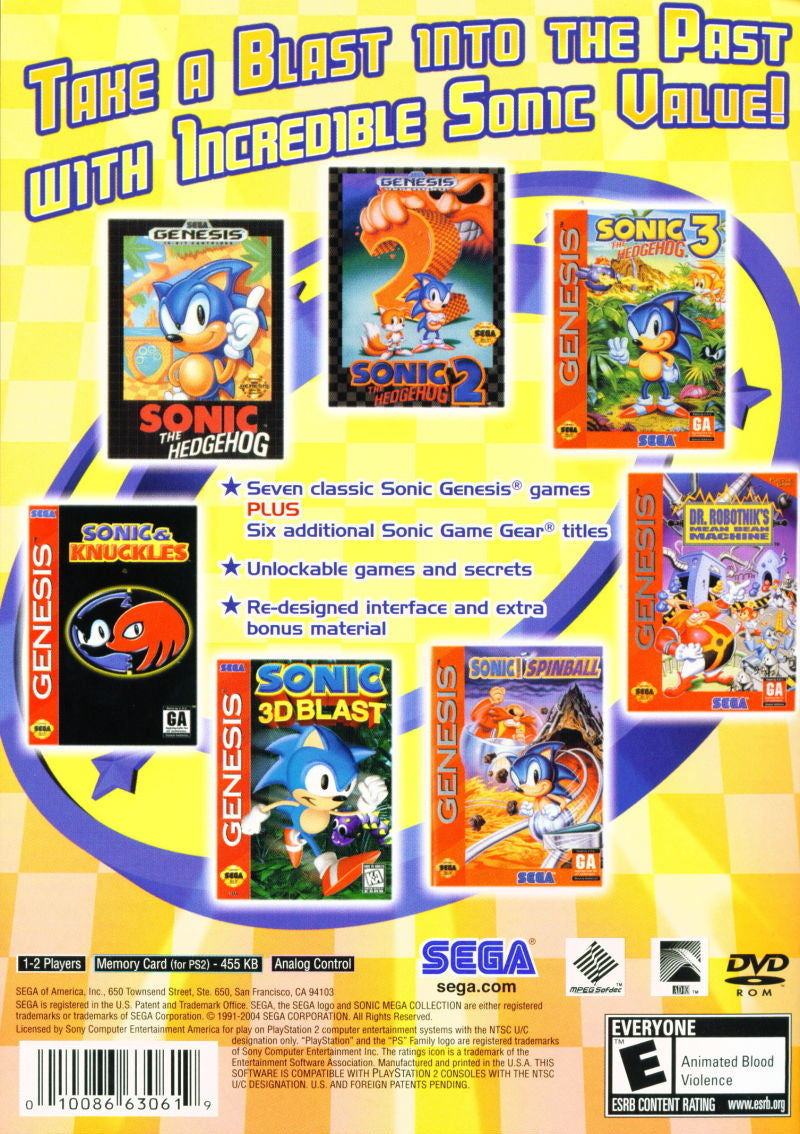 Sonic: Mega Collection Plus (Greatest Hits) - PlayStation 2 (PS2) Game