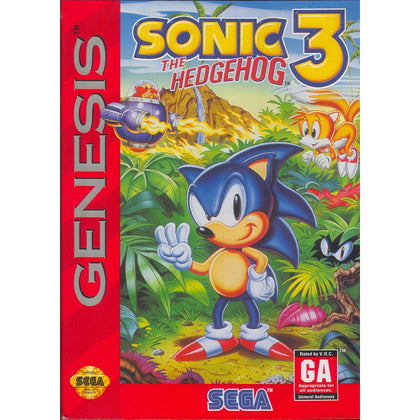 Sonic the Hedgehog 3 - Sega Genesis Game Complete - YourGamingShop.com - Buy, Sell, Trade Video Games Online. 120 Day Warranty. Satisfaction Guaranteed.