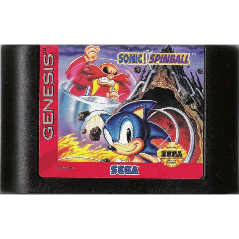 Sonic the Hedgehog: Spinball - Sega Genesis Game - YourGamingShop.com - Buy, Sell, Trade Video Games Online. 120 Day Warranty. Satisfaction Guaranteed.