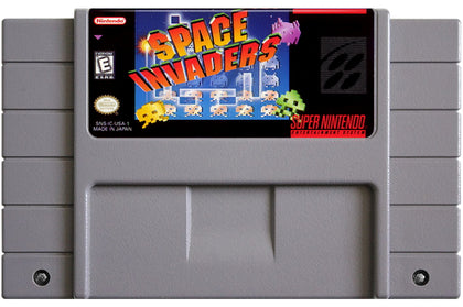 Space Invaders - Super Nintendo (SNES) Game Cartridge