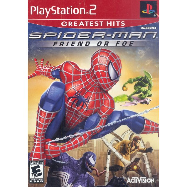 Spider-Man: Friend or Foe (Greatest Hits) - PlayStation 2 (PS2) Game Complete - YourGamingShop.com - Buy, Sell, Trade Video Games Online. 120 Day Warranty. Satisfaction Guaranteed.