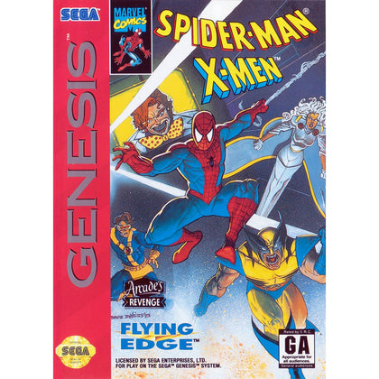 Spider-Man / X-Men: Arcade's Revenge - Sega Genesis Game Complete - YourGamingShop.com - Buy, Sell, Trade Video Games Online. 120 Day Warranty. Satisfaction Guaranteed.