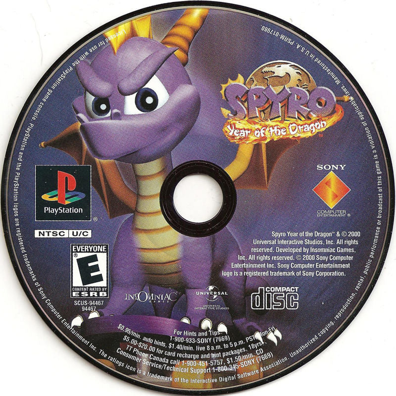 Spyro Year of the Dragon - PlayStation 1 PS1 Game Complete - YourGamingShop.com - Buy, Sell, Trade Video Games Online. 120 Day Warranty. Satisfaction Guaranteed.