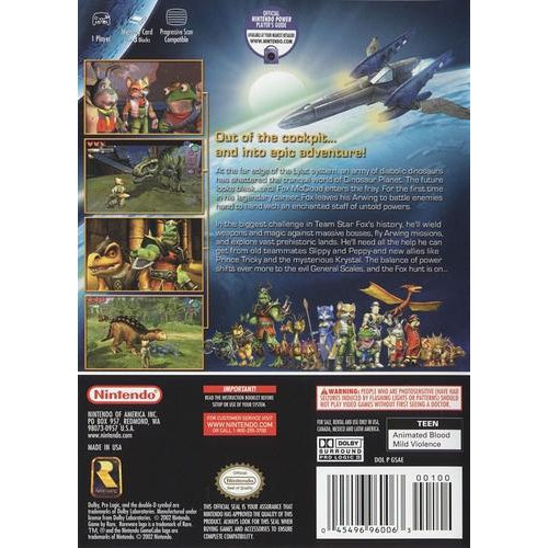Star Fox Adventures - Nintendo GameCube Game Complete - YourGamingShop.com - Buy, Sell, Trade Video Games Online. 120 Day Warranty. Satisfaction Guaranteed.