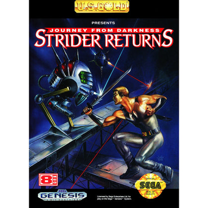 Strider Returns: Journey from Darkness - Sega Genesis Game Complete - YourGamingShop.com - Buy, Sell, Trade Video Games Online. 120 Day Warranty. Satisfaction Guaranteed.