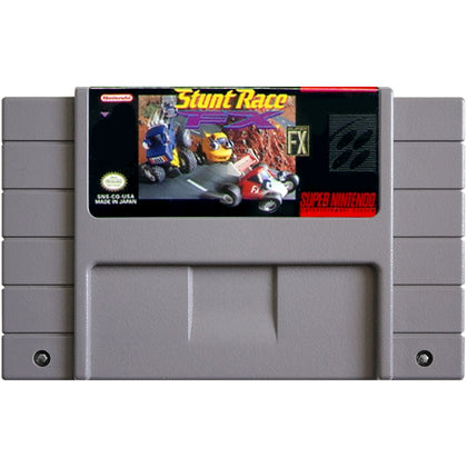 Stunt Race FX - Super Nintendo (SNES) Game Cartridge