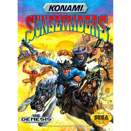 Sunset Riders - Sega Genesis Game Complete - YourGamingShop.com - Buy, Sell, Trade Video Games Online. 120 Day Warranty. Satisfaction Guaranteed.