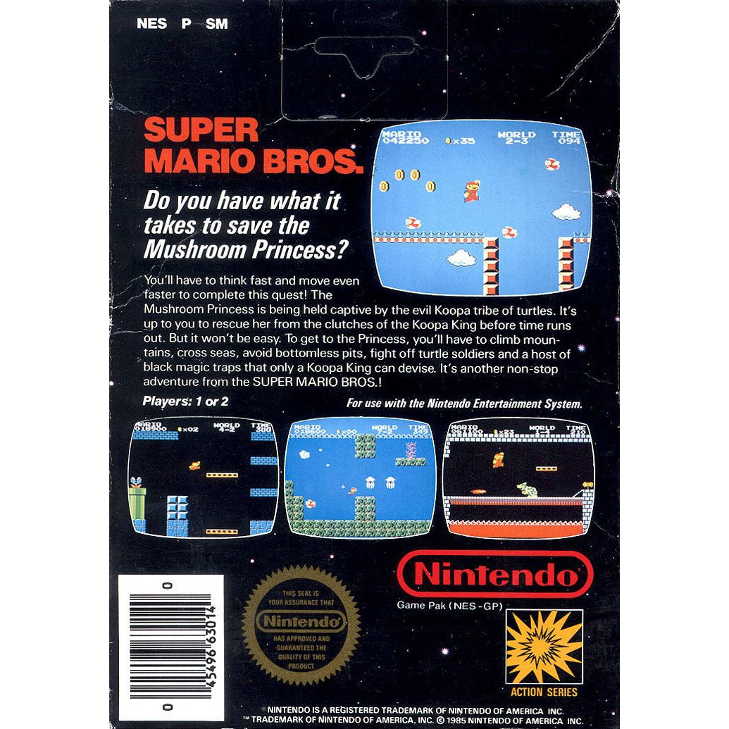 Super Mario Bros. - Authentic NES Game Cartridge - YourGamingShop.com - Buy, Sell, Trade Video Games Online. 120 Day Warranty. Satisfaction Guaranteed.