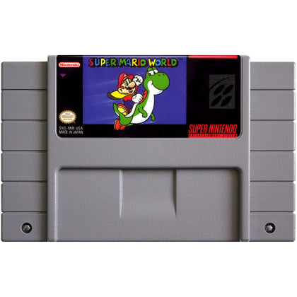 Super Mario World - Super Nintendo (SNES) Game Cartridge - YourGamingShop.com - Buy, Sell, Trade Video Games Online. 120 Day Warranty. Satisfaction Guaranteed.