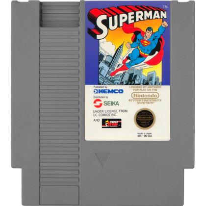 Superman - Authentic NES Game Cartridge