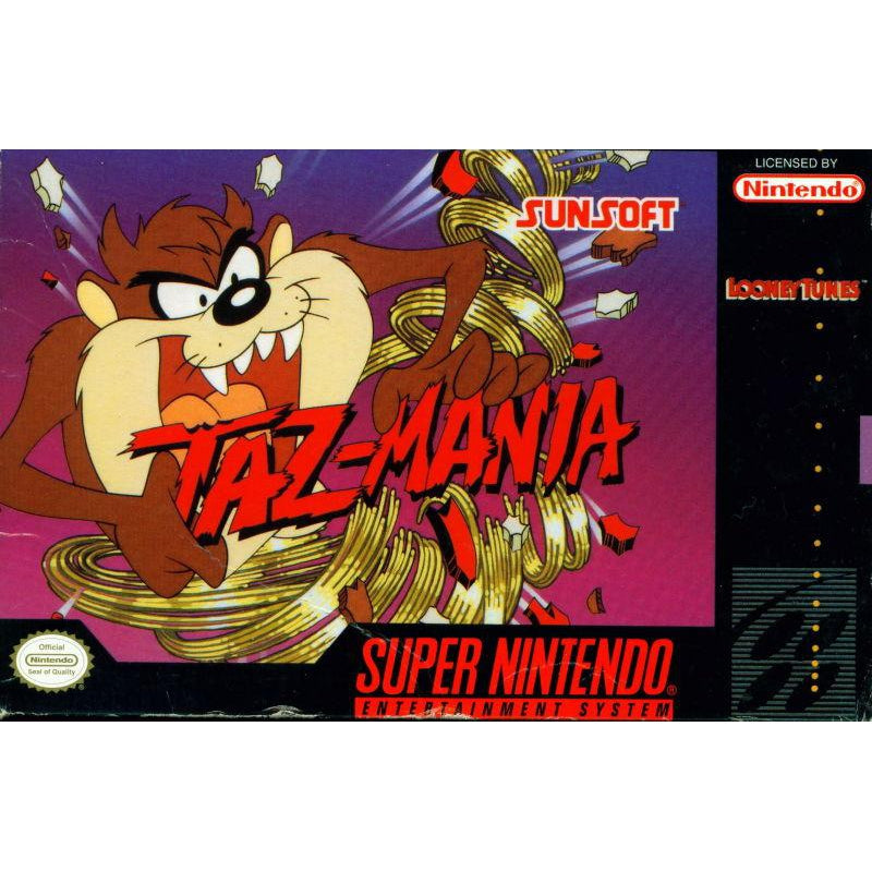Taz-Mania - Super Nintendo (SNES) Game Cartridge - YourGamingShop.com - Buy, Sell, Trade Video Games Online. 120 Day Warranty. Satisfaction Guaranteed.