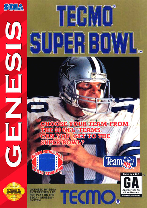 Tecmo Super Bowl - Sega Genesis Game