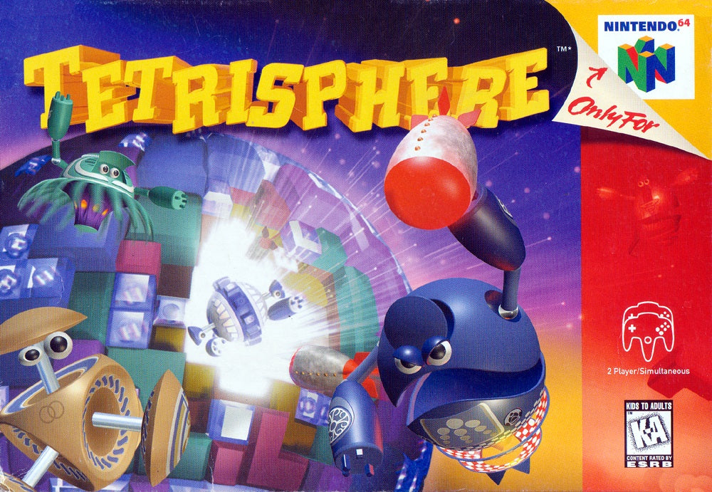 Tetrisphere - Authentic Nintendo 64 (N64) Game Cartridge