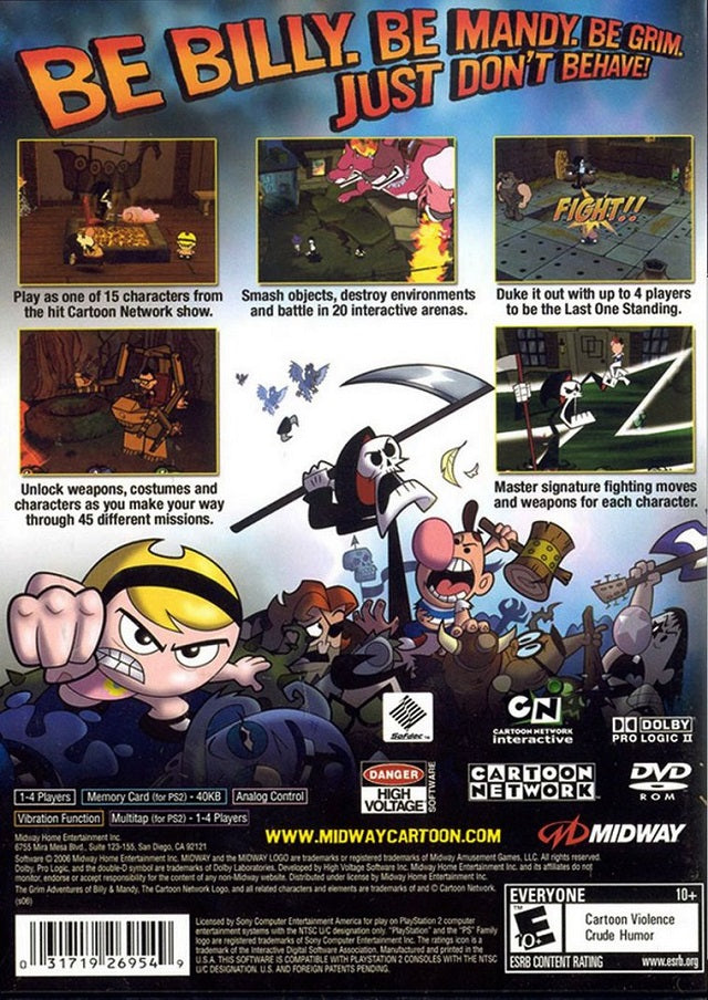 The Grim Adventures of Billy & Mandy - PlayStation 2 (PS2) Game