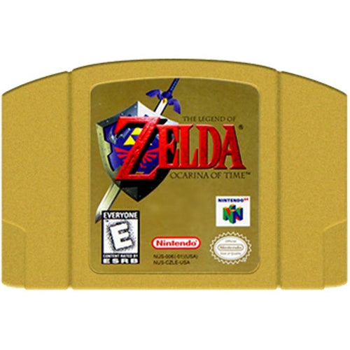 The Legend of Zelda: Ocarina of Time (Collector's Edition Gold Cartridge) - Authentic Nintendo 64 (N64) Game Cartridge - YourGamingShop.com - Buy, Sell, Trade Video Games Online. 120 Day Warranty. Satisfaction Guaranteed.