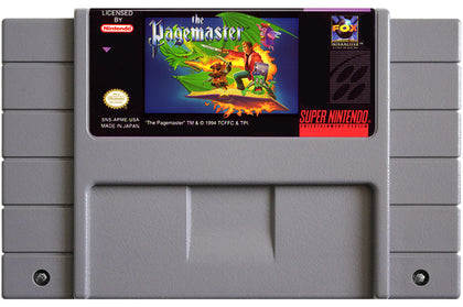 The Pagemaster - Super Nintendo (SNES) Game Cartridge