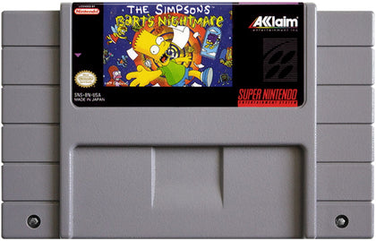 The Simpsons: Bart's Nightmare - Authentic Super Nintendo (SNES) Game Cartridge