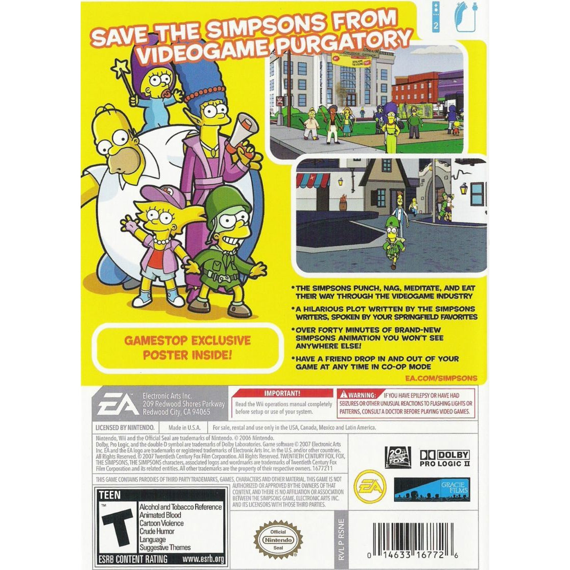 The Simpsons Game - Nintendo Wii Game Complete - YourGamingShop.com - Buy, Sell, Trade Video Games Online. 120 Day Warranty. Satisfaction Guaranteed.