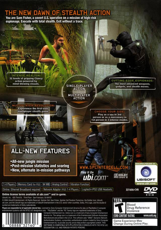 Tom Clancy's Splinter Cell: Pandora Tomorrow - PlayStation 2 (PS2) Game