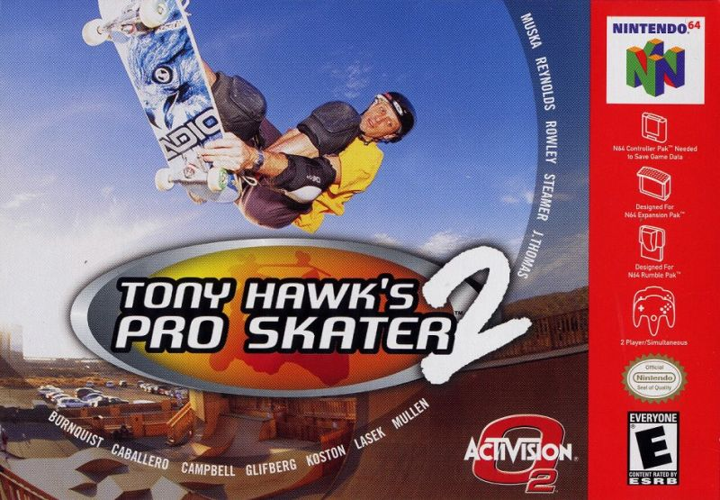 Tony Hawk's Pro Skater 2 - Authentic Nintendo 64 (N64) Game Cartridge