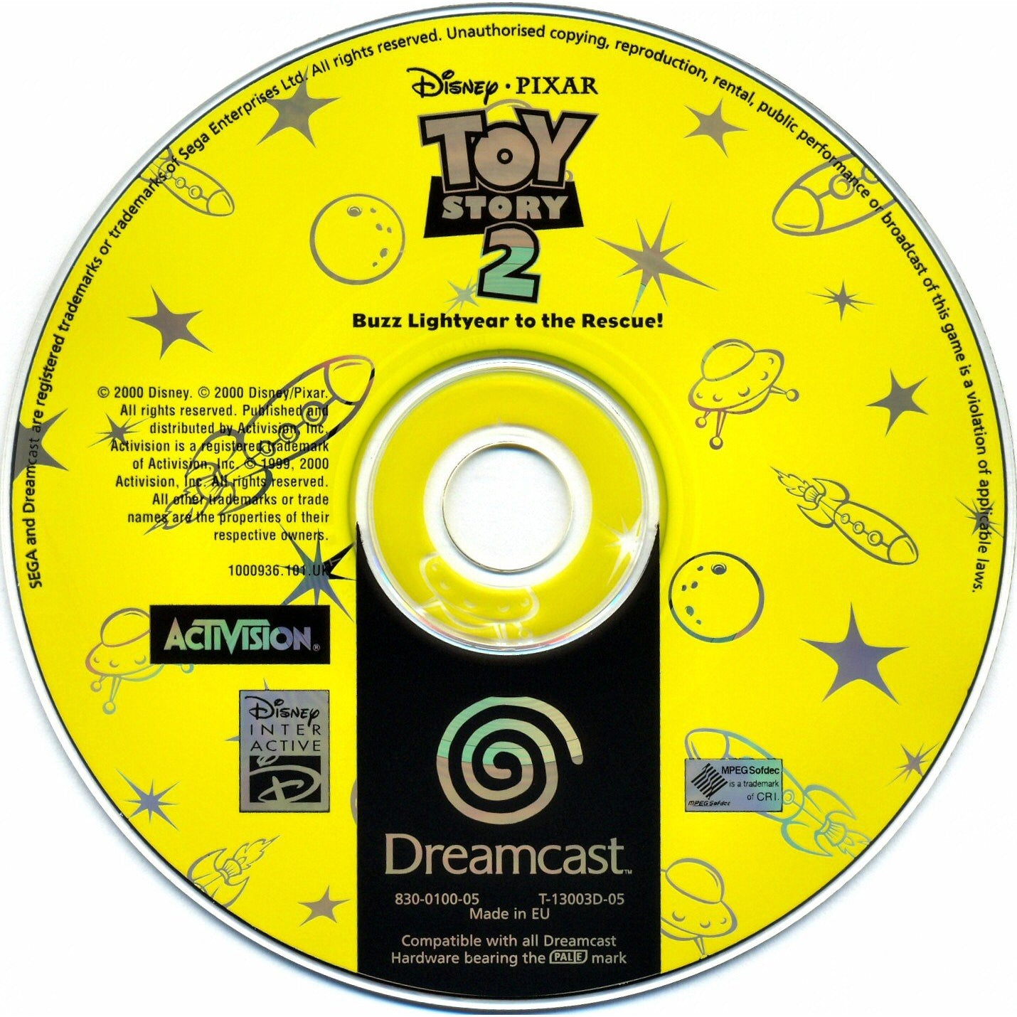 Toy Story 2: Buzz Lightyear to the Rescue! - Sega Dreamcast Game Complete - YourGamingShop.com - Buy, Sell, Trade Video Games Online. 120 Day Warranty. Satisfaction Guaranteed.