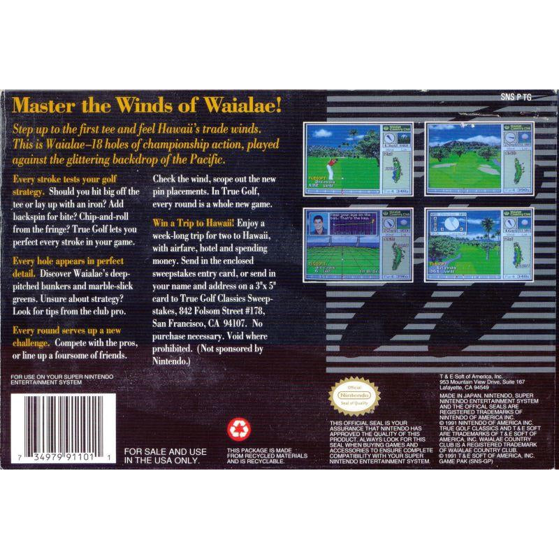 True Golf Classics: Waialae Country Club - Super Nintendo (SNES) Game Cartridge - YourGamingShop.com - Buy, Sell, Trade Video Games Online. 120 Day Warranty. Satisfaction Guaranteed.