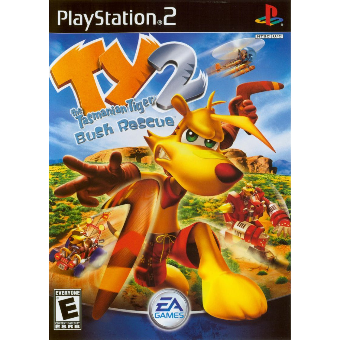 Ty the Tasmanian Tiger 2: Bush Rescue - PlayStation 2 (PS2) Game Complete - YourGamingShop.com - Buy, Sell, Trade Video Games Online. 120 Day Warranty. Satisfaction Guaranteed.