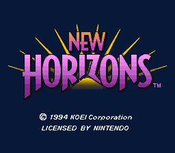 Uncharted Waters: New Horizons - Authentic Super Nintendo (SNES) Game Cartridge