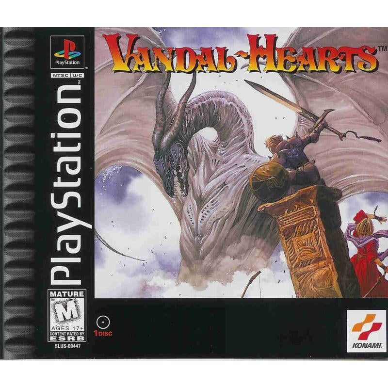 Vandal-Hearts - PlayStation 1 (PS1) Game Complete - YourGamingShop.com - Buy, Sell, Trade Video Games Online. 120 Day Warranty. Satisfaction Guaranteed.