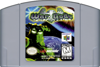 War Gods - Authentic Nintendo 64 (N64) Game Cartridge