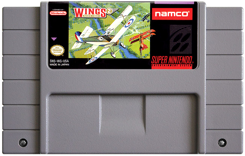Wings 2: Aces High - Super Nintendo (SNES) Game Cartridge