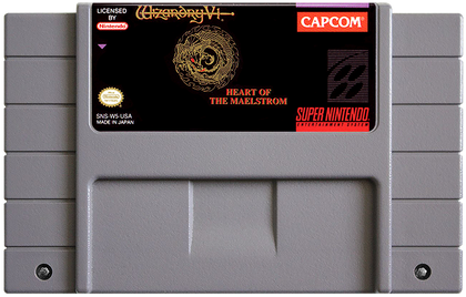 Wizardry V: Heart of the Maelstrom - Super Nintendo (SNES) Game Cartridge