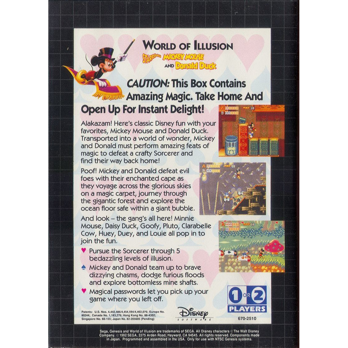 World of Illusion Starring Mickey Mouse and Donald Duck  - Sega Genesis Game - YourGamingShop.com - Buy, Sell, Trade Video Games Online. 120 Day Warranty. Satisfaction Guaranteed.